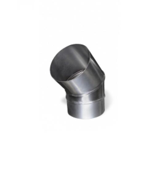 Дымоход одностенный Отвод 45°