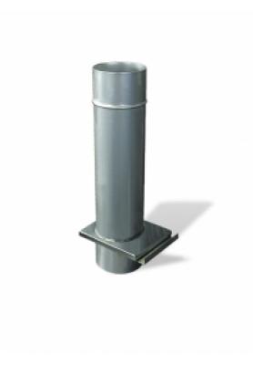 Дымоход одностенный Шибер-задвижка 0,5 м